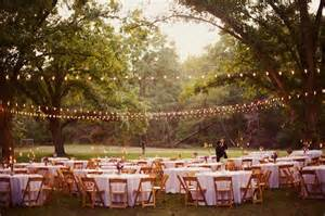 outdoor wedding with lights it