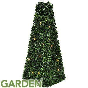 artificial pyramid cone tree  solar powered led lights