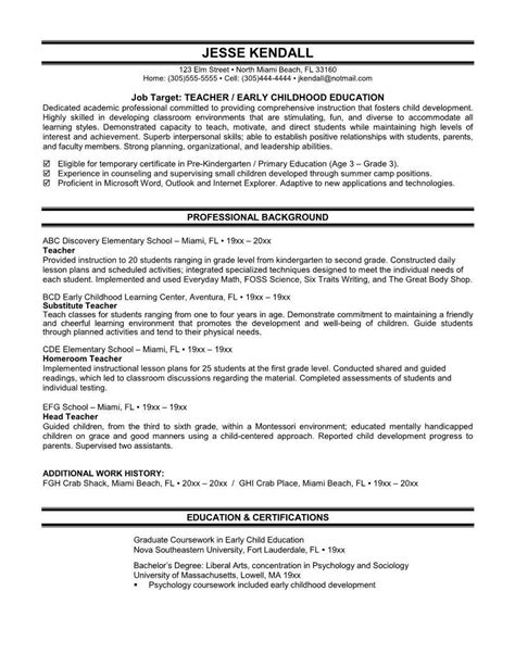 early childhood education resume sle sle esl resume test engineering manager cover