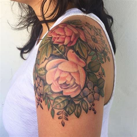 Flower Shoulder by Shoulder Flower Tattoos Designs Ideas And Meaning
