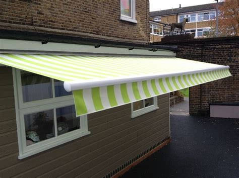 classic blinds and awnings fantastic pvc striped fabric offering shade inside and