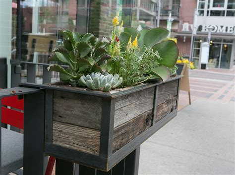 Hanging Deck Planters by Modern Railing Planters Custom By Rushton