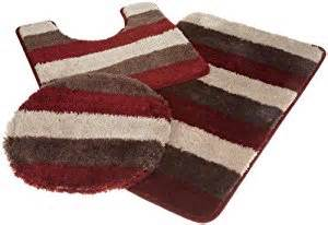 bathroom rugs set popular bath reflection burgundy 3 rug