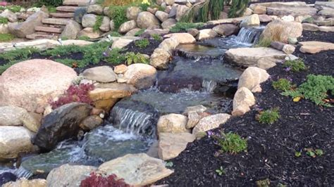 Landscape Rock Rochester Ny Beautiful Waterfall Pond Patio
