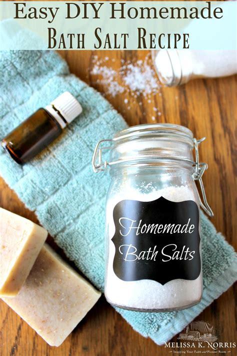 Easy Handmade Diy Bath Salts - diy bath salt recipe with essential oils