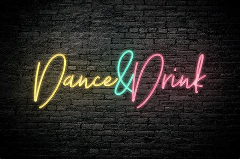 free neon photoshop text effect pixelo