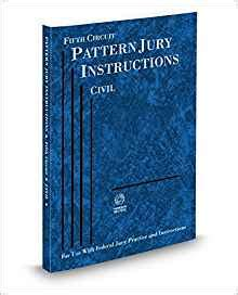 pattern jury instructions federal amazon com fifth circuit pattern jury instructions civil