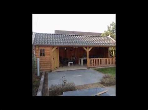 Garden Center Zonhoven Eiken Tuinhuis Eiken Blokhut Met Eiken Gebint Voor Sta