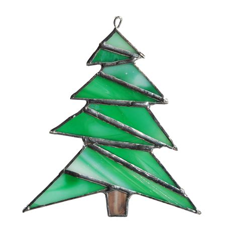 stained glass ornament christmas tree