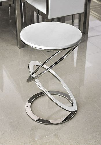 Olimpico Modern White Volakas Marble End Table