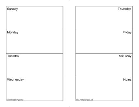 printable weekly calendar sunday saturday