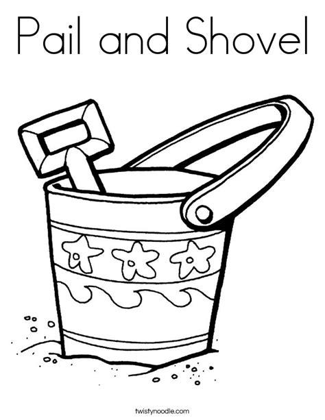 pail and shovel coloring page twisty noodle