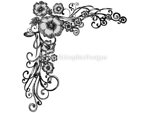 set5 hand drawn floral corners vol 1 hd walls find wallpapers how to create a logo design ehow tattoo design bild