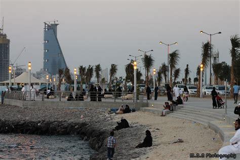 corniche jeddah families enjoying the sea at the jeddah corniche