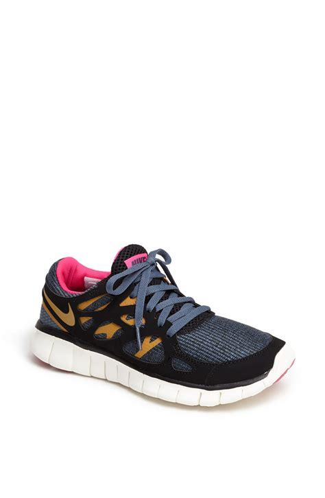 free run shoe nike free run 2 ext running shoe in black black gold