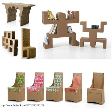 decoracion de cajas de carton reciclado muebles en cart 243 n muebles hechos a mano pinterest