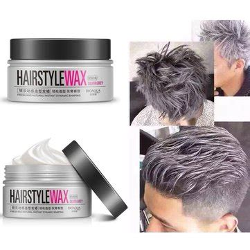 Hairstyle Wax Grey by Bioaoua Silver Grey Disposable Hair Style Wax Mud Dye
