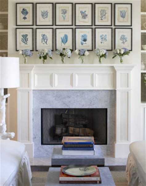 Blue Mantle Fireplaces by Fireplace Design Ideas