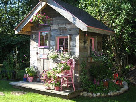 cute garden shed   lovely garden pinterest