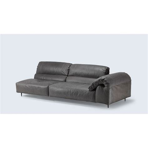 chaise sofa with independently moveable arms