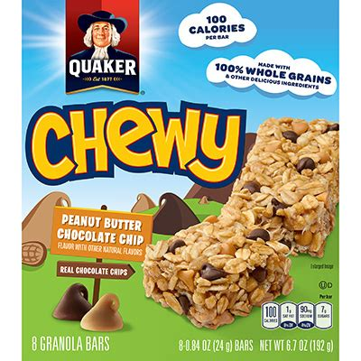 Grains N Co Granola Peanut Butter Choco Chip 2 product oat snacks quaker chewy granola bars peanut butter chocolate chip quakeroats