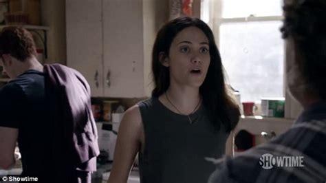 emmy rossum bottle kick emmy rossum returns in new trailer for shameless season