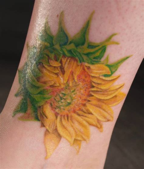 blooming flower tattoo designs sunflower tattoos page 2