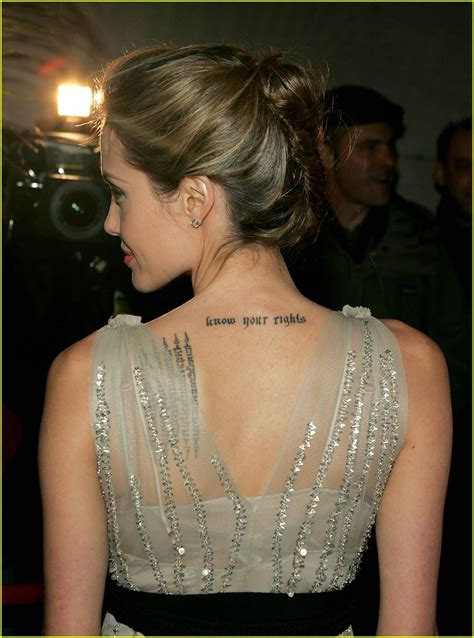 angelina jolie s tattoos removal s tattoos pictures