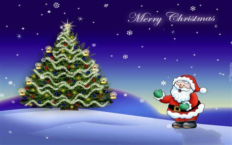 are papa noel trees good kartka świąteczna