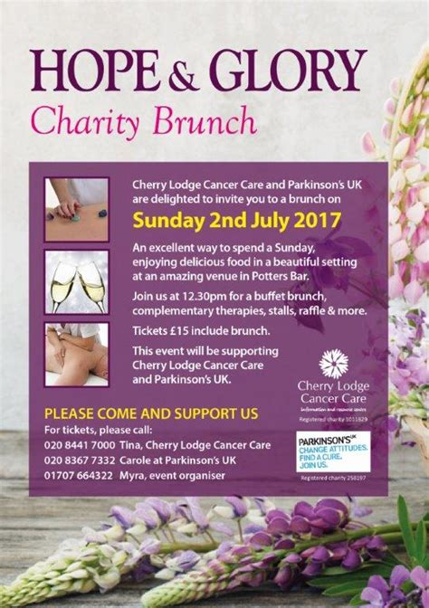 hope and glory buying house hope and glory charity brunch cherry lodge cancer care