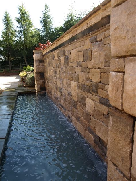 Wet Wall Water Feature With Natural Effect Stream And Pool Water Wall Features For The Garden