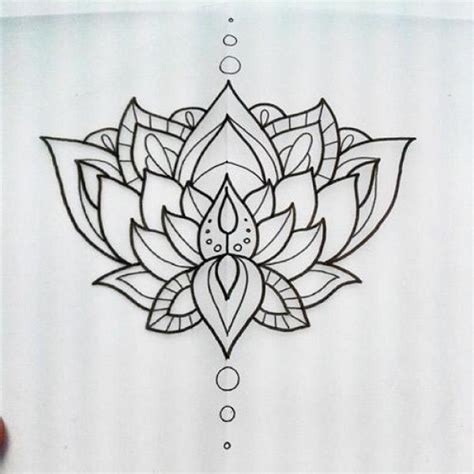simple lotus tattoo designs black simple lotus flower drawing golfian