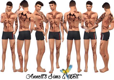 full body tattoo the sims 3 annett s sims 4 welt full body tattoos