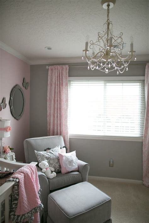 pink and grey toddler room soft and gray and pink nursery grey chandeliers and pink