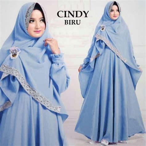 Baju Muslim Sakinah Syari Biru baju muslim misbee syari gamis harian polos butik