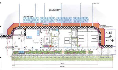 Blueprints For New Homes overhead drawing of kinney earthship overhead building