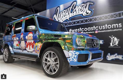 wrapped g wagon justin bieber wraps his g wagon like a present celebrity