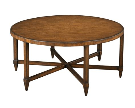 round wood cocktail table round cocktail table hammary modern basics round cocktail