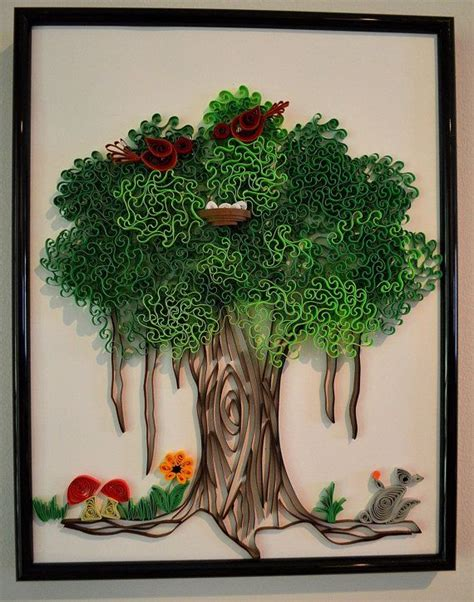paper quilling tree tutorial 195 best trees quilled images on pinterest paper