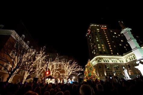 downtown lancaster tree lighting festivals in pennsylvania