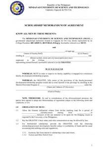 Agreement Letter Tagalog Memorandum Of Agreement Sle Philippines