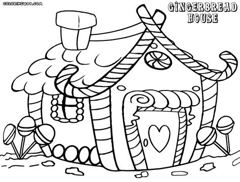 Great Smiling Mushroom Coloring Page With Gingerbread Simple Gingerbread House Coloring Page