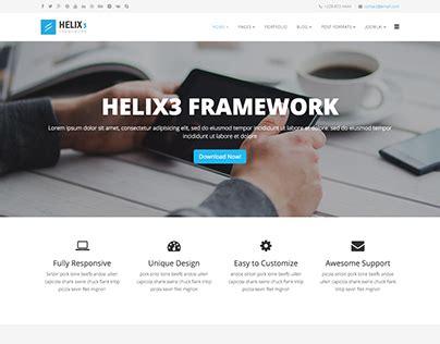best joomla template framework helix3 best free joomla template framework on behance