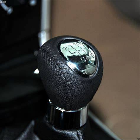 Mazda 6 Shift Knob 6 speed leather chrome manual gear shift knob for mazda 6