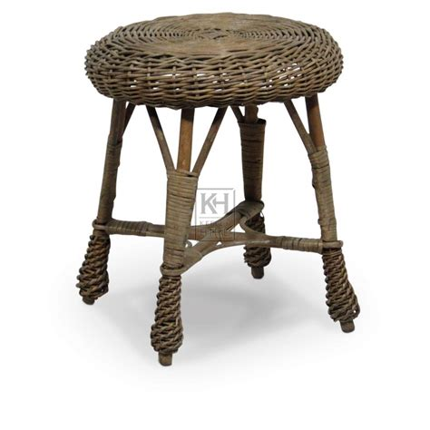 Rattan Stool by Prop Hire 187 Stools 187 Wicker Stool Keeley Hire
