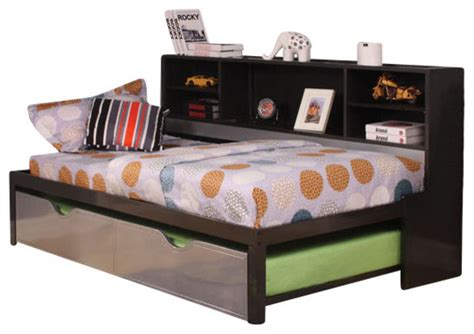 twin trundle bed with bookcase headboard silver black twin bed with trundle bookcase storage