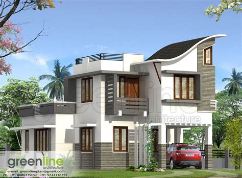 kerala house plan kerala house elevation at 2991 sqft flat