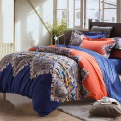 bohemian bed set royal blue orange modern colorful bohemian chic western