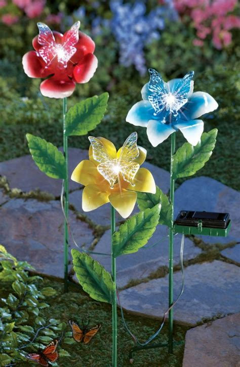 solarlichter garten solar lighted flowers fresh garden decor
