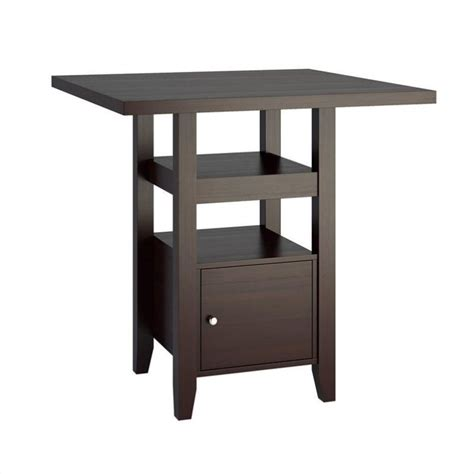 Dining Table With Cabinet by 36 Quot Counter Height Cappuccino Dining Table With Cabinet